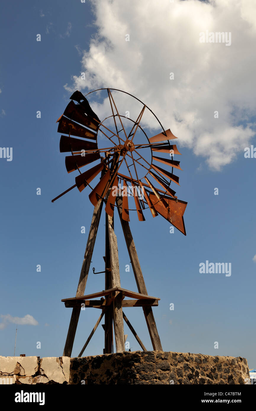 Old derelict windmill - Stock Image
