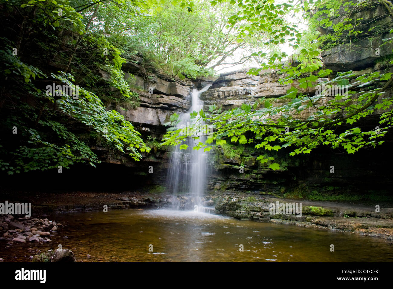 Gibsons Cave at Bowlees, Teesdale, County Durham - Stock Image