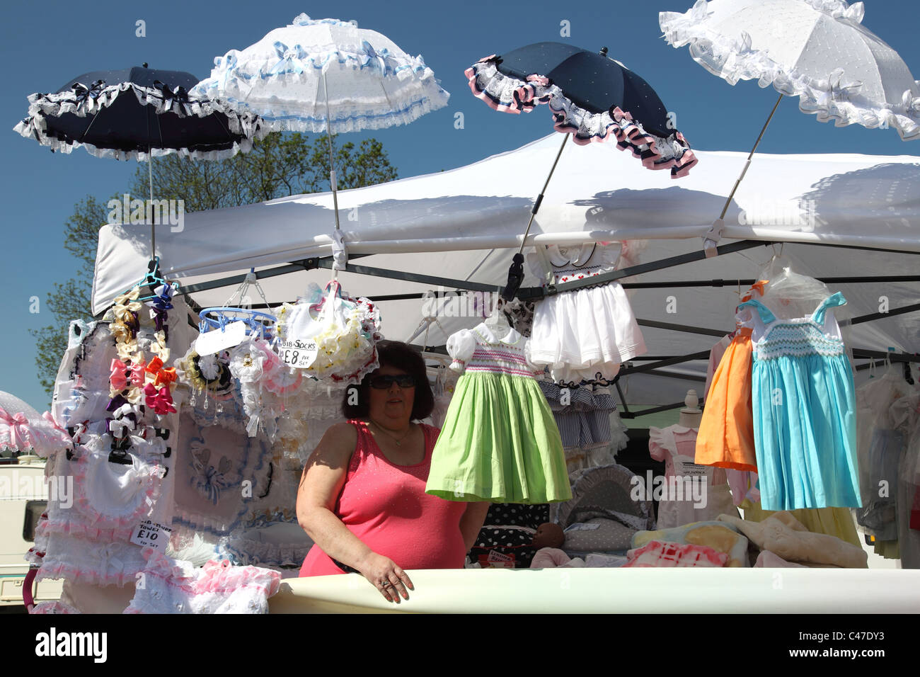 A Stall Selling Baby Clothes At The Appleby Horse Fair Stock Photo