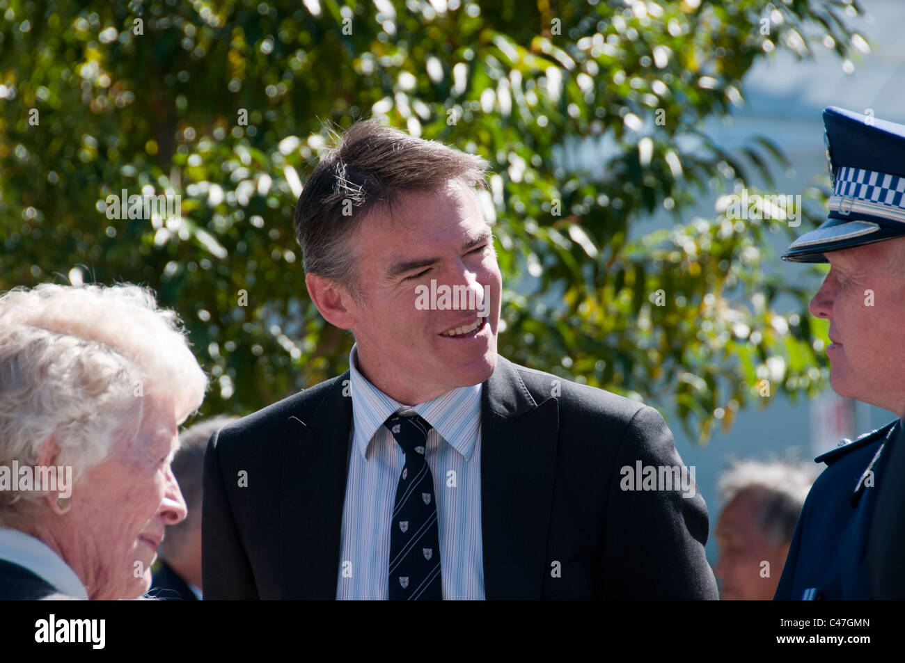 Independent Federal politician, Rob Oakeshott at a ceremony commemorating the lives lost in the Sandakan Death marches. - Stock Image