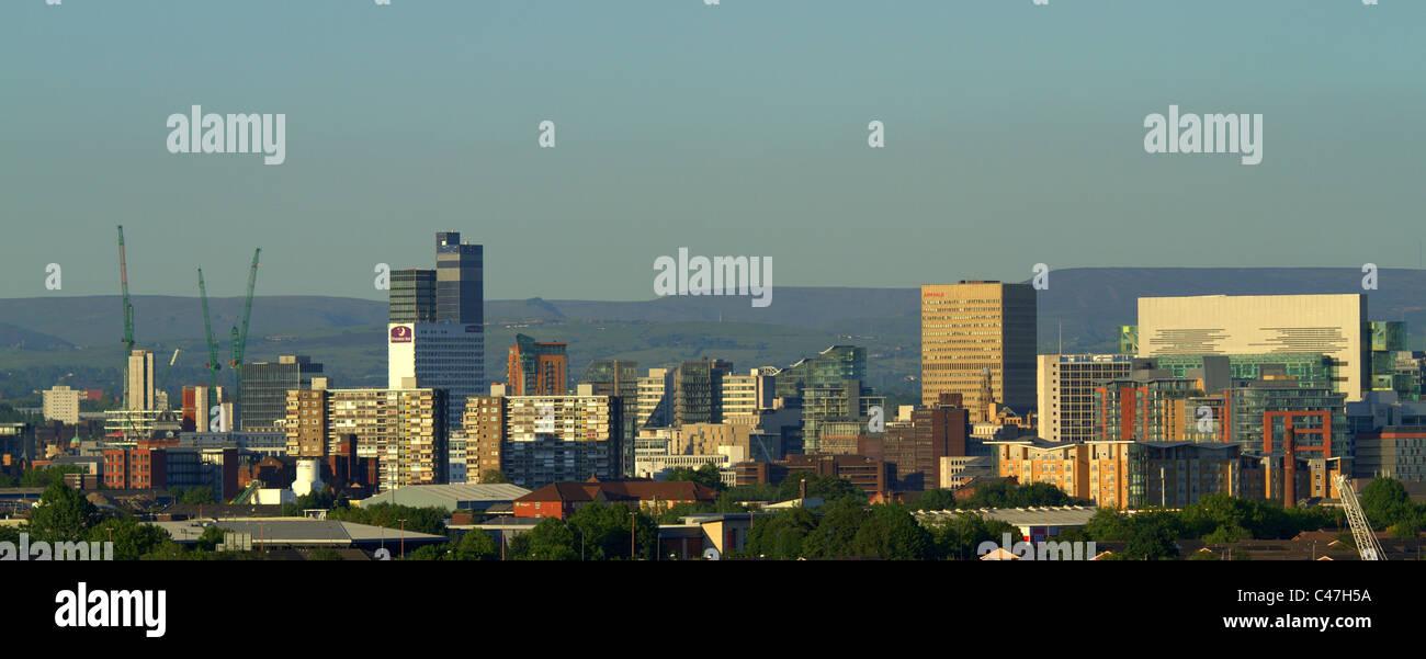 Manchester City Skyline in 2011 England UK - Stock Image