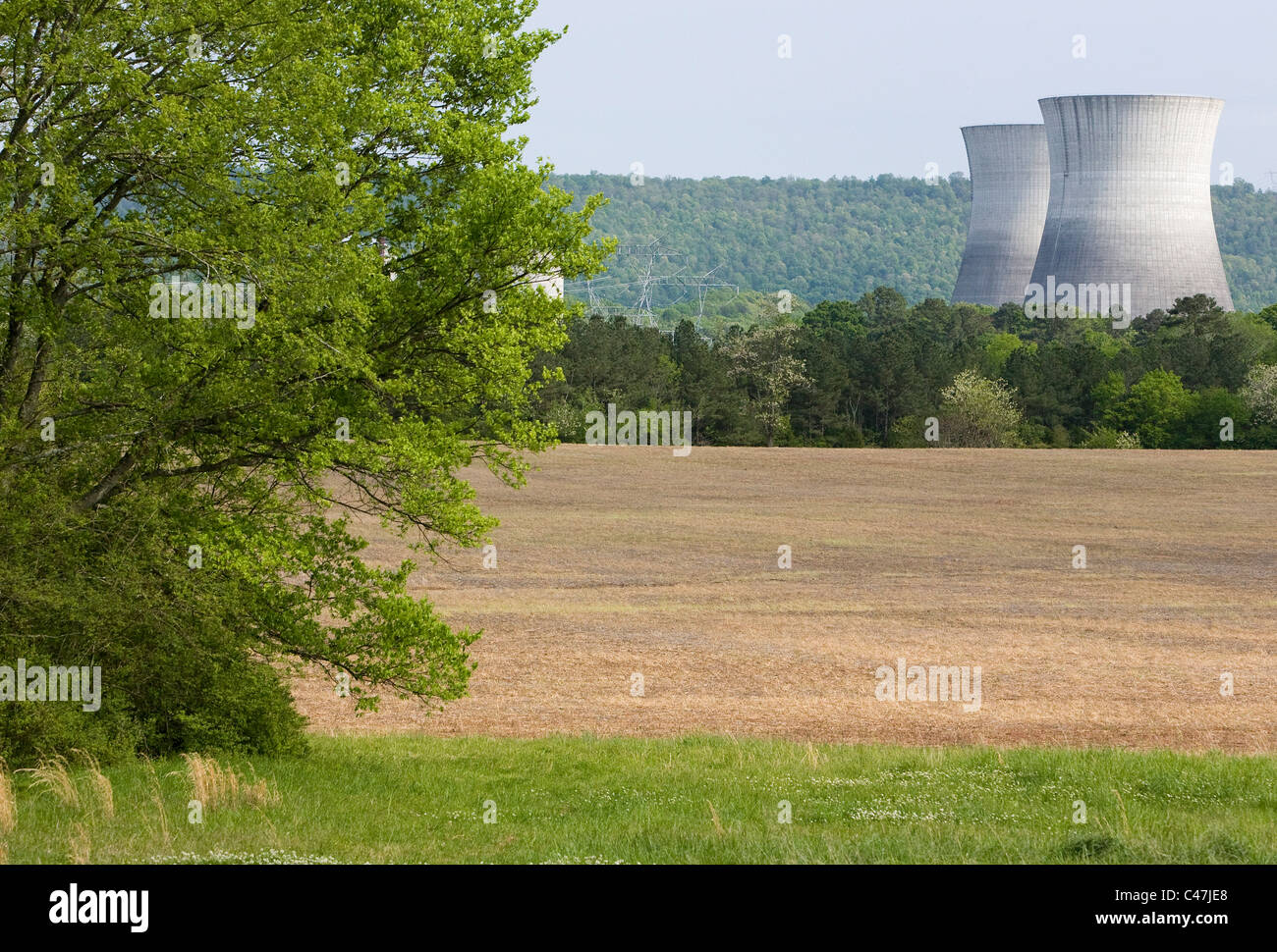 The unfinished Bellefonte Nuclear Power Plant. Stock Photo