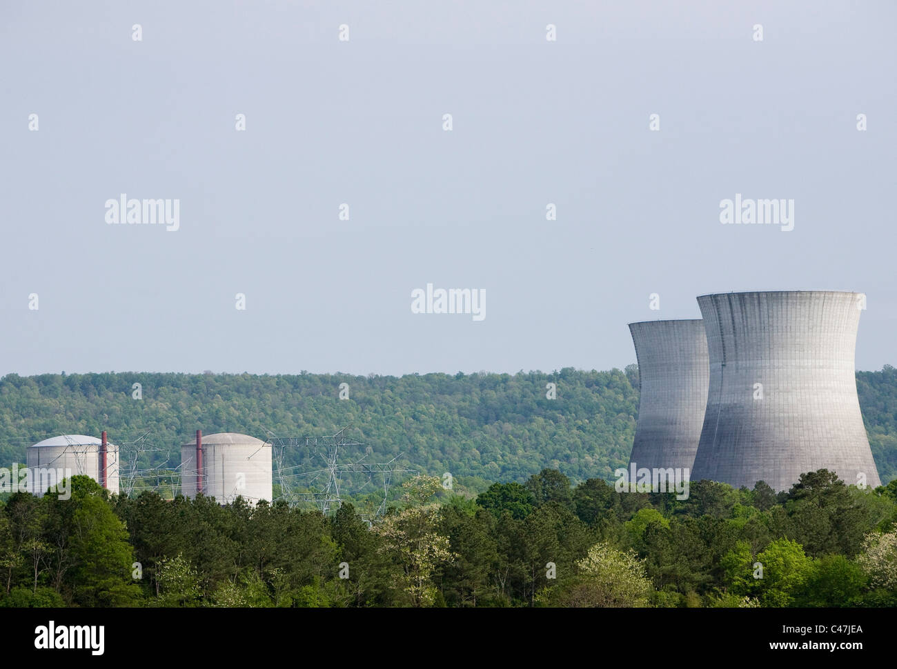 The unfinished Bellefonte Nuclear Power Plant. - Stock Image