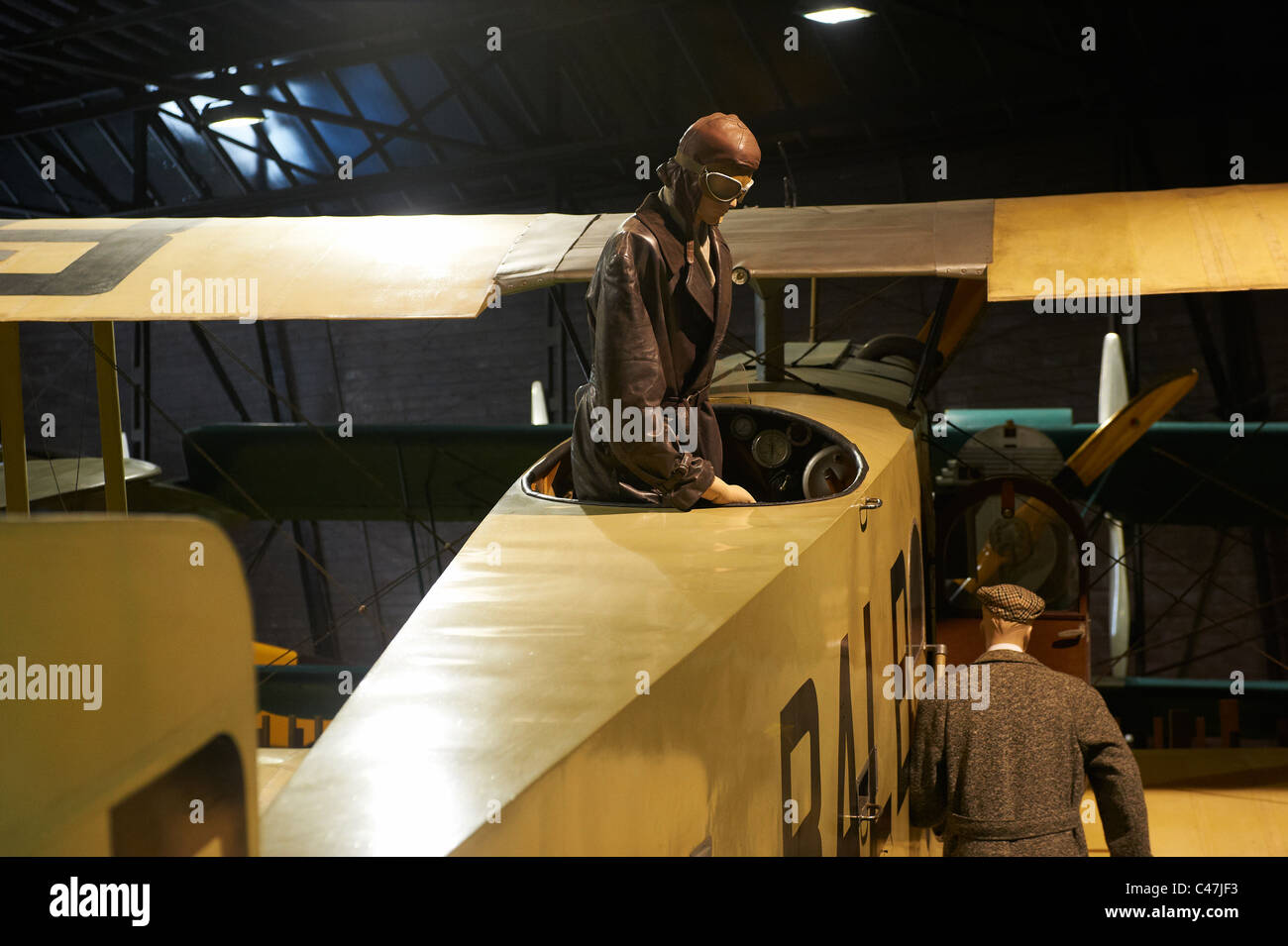 The Aviation Museum Kbely - Letecke muzeum - Muzeum letectvi a kosmonautiky Prague Czech Republic - Stock Image