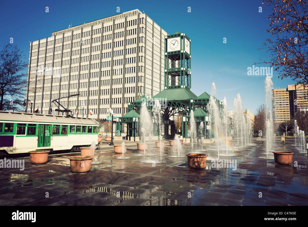 Tramway in Memphis, Tennessee - Stock Image