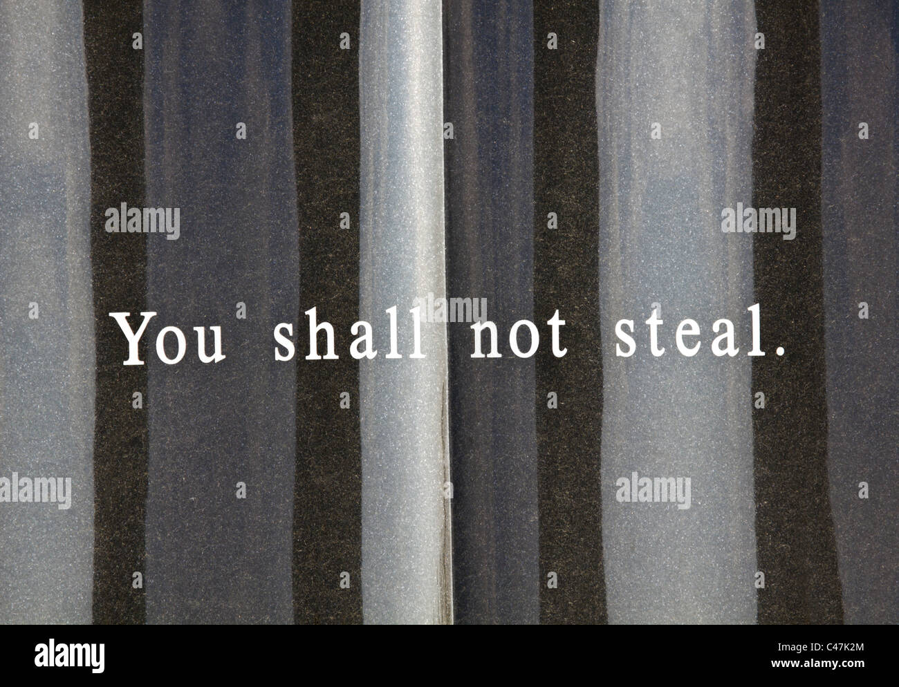 Seventh commandment - Stock Image