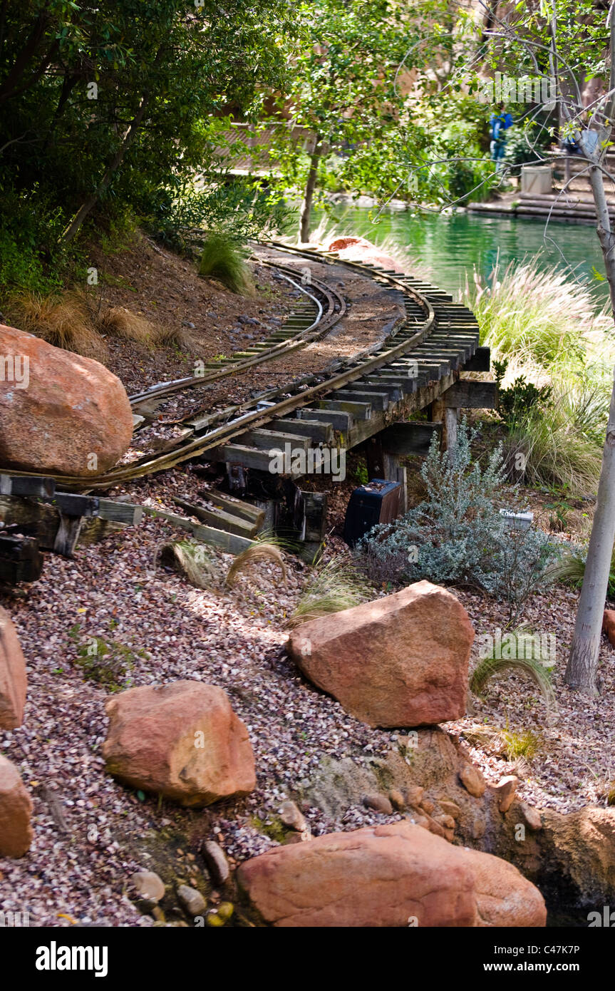 Destroyed train line - Stock Image
