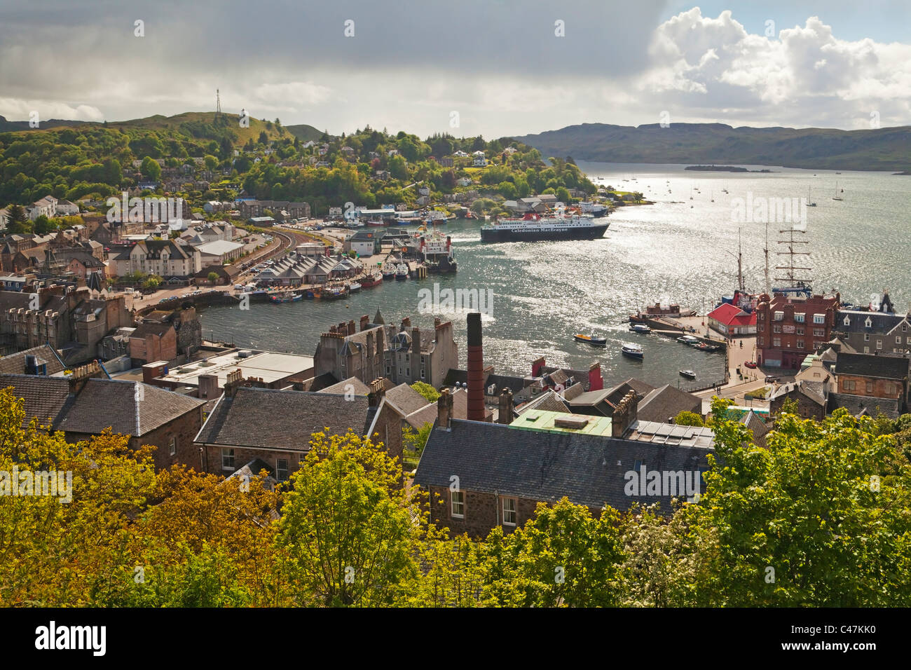 Oban from McCaig's Tower - Stock Image