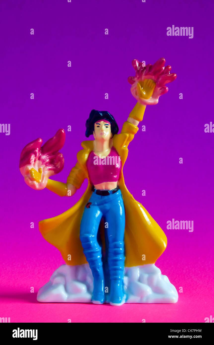 Plastic miniature hero doll - Stock Image