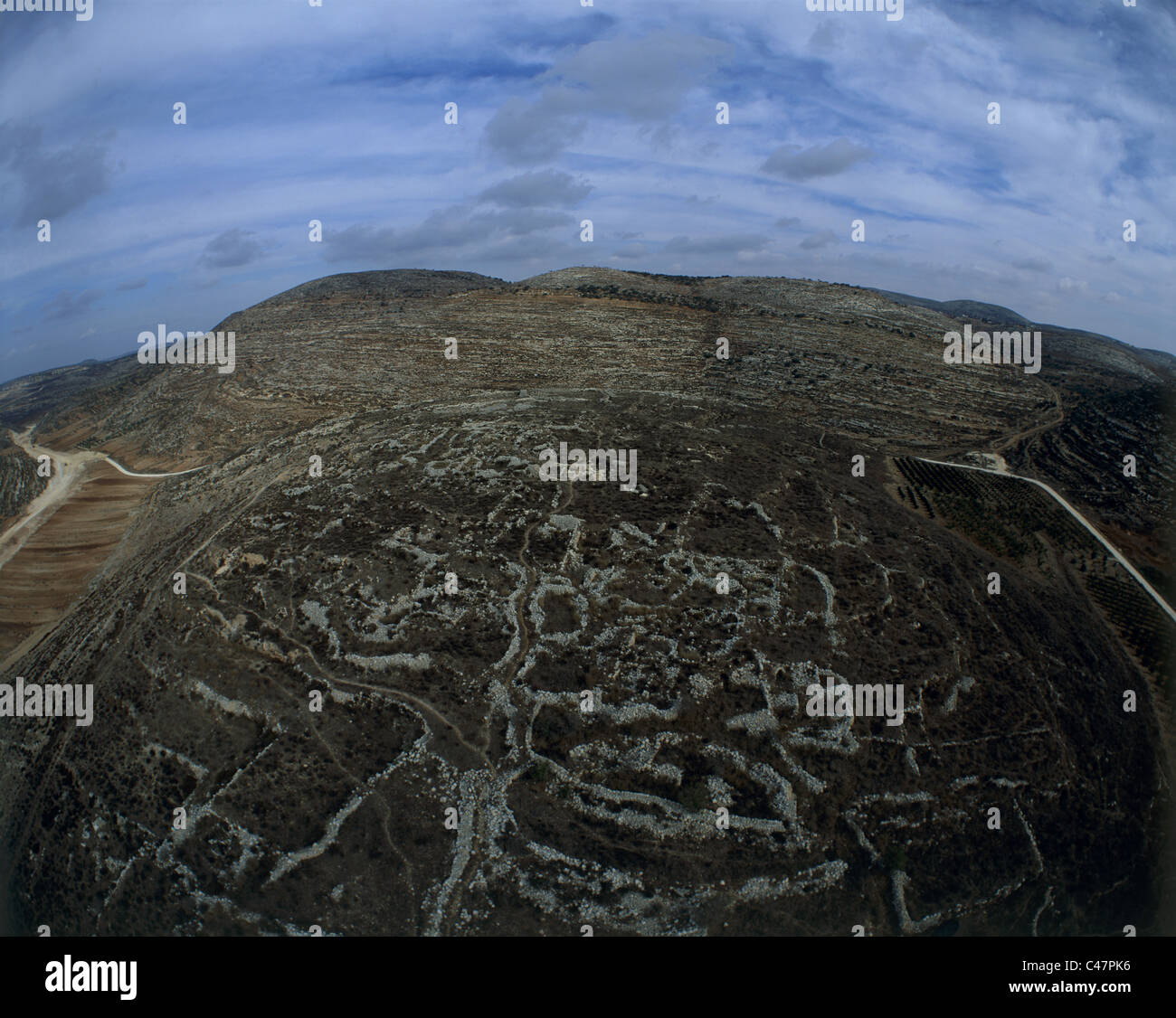 Aerial view of the biblical city of Shiloh - Stock Image