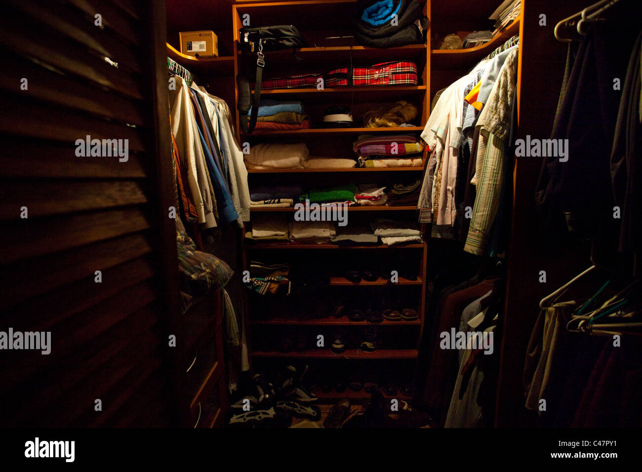 Walk-in closet - Stock Image
