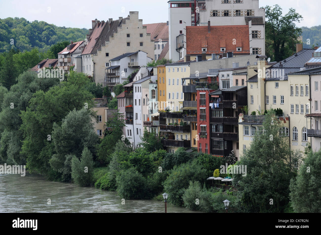 Wasserburg Am Inn Germania old town wasserburg am inn in bavaria, germany stock photo
