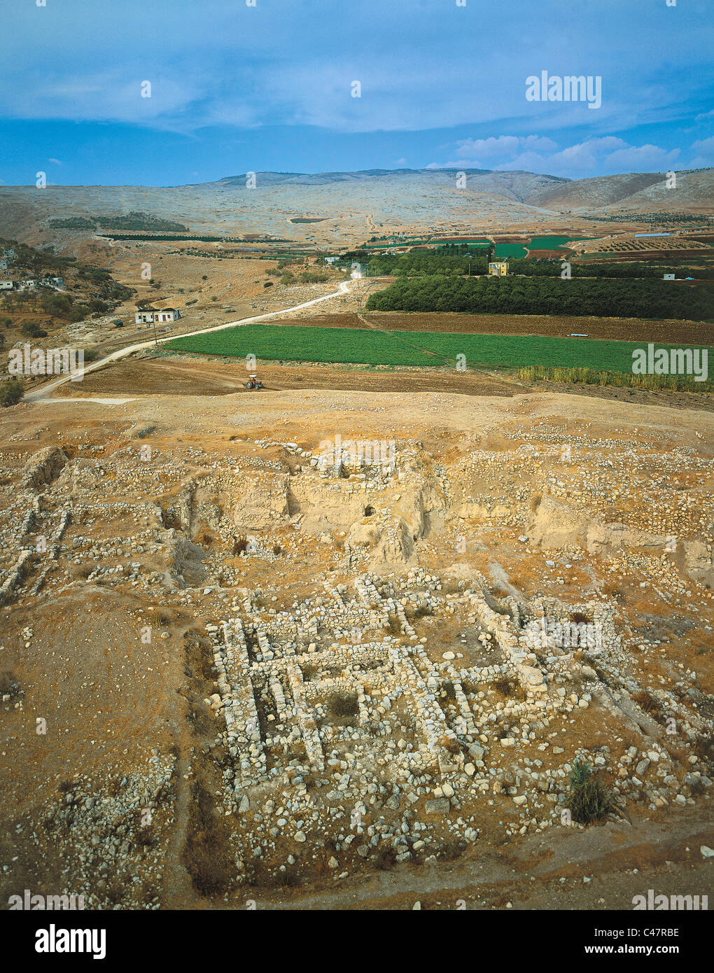 Aerial view of the biblical city of Tirzah - Stock Image