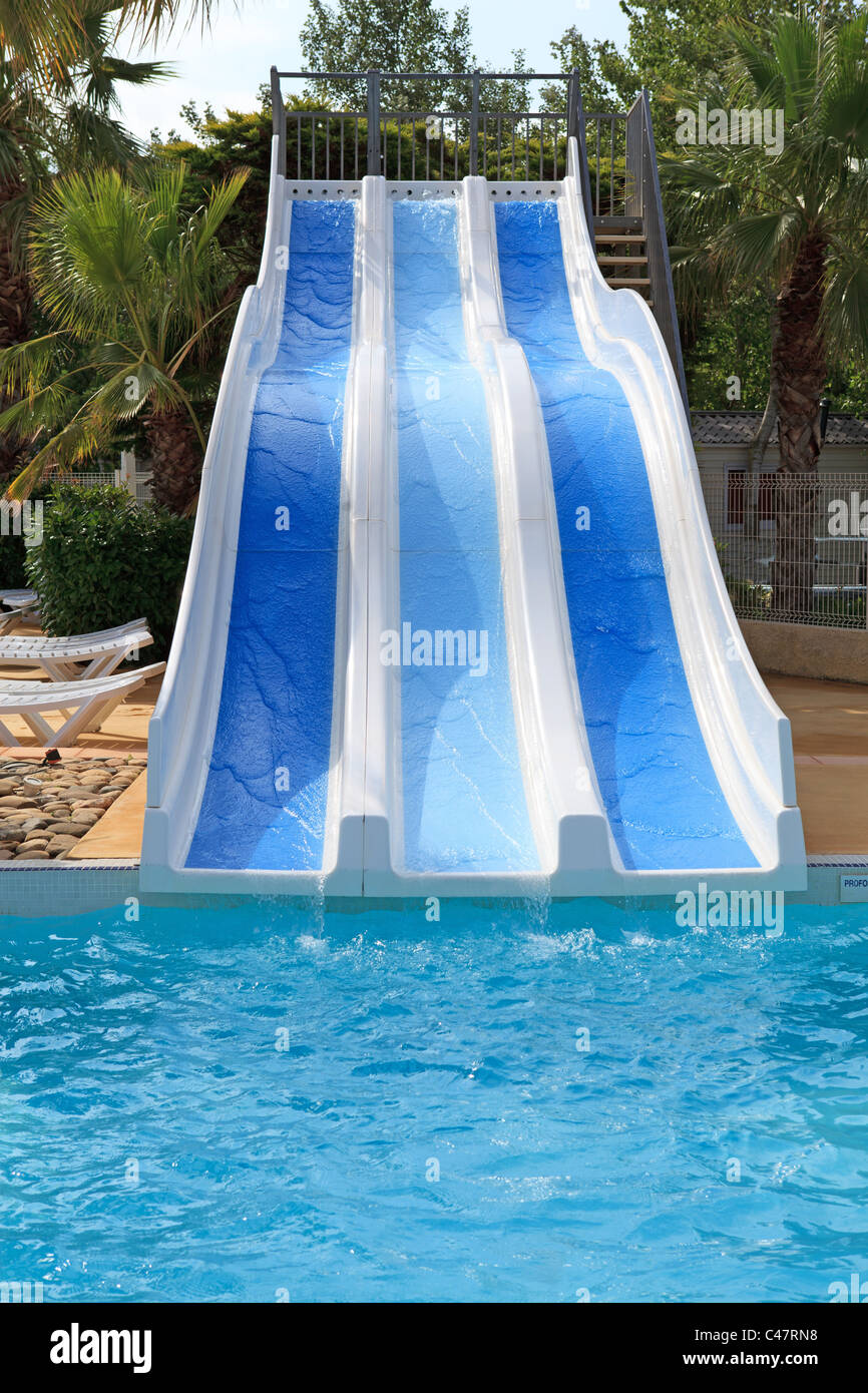 Empty Swimming Pool Water Slides High Resolution Stock Photography And Images Alamy