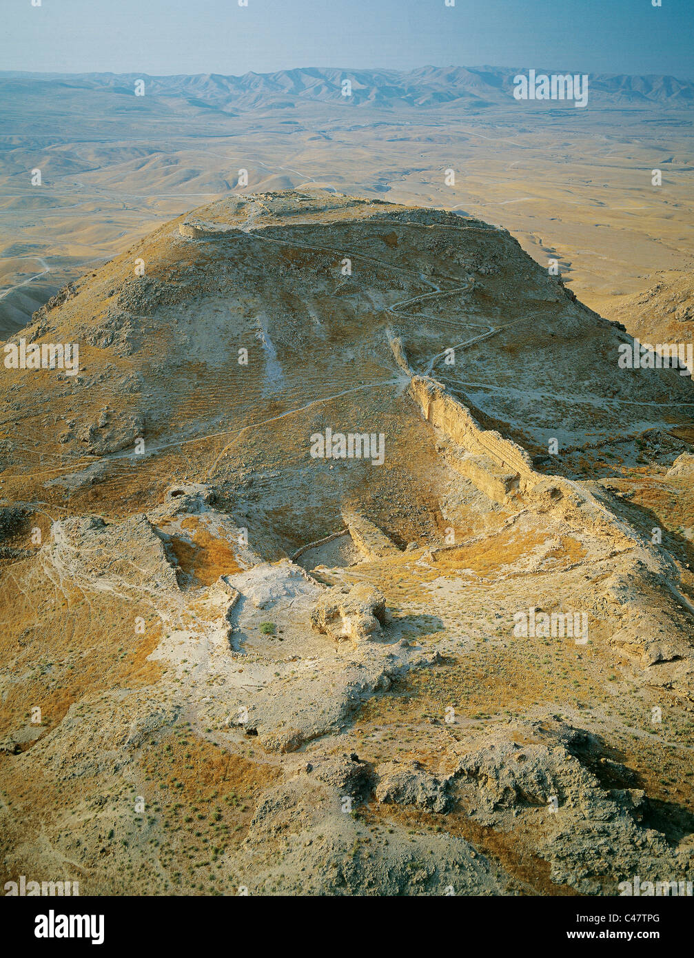 Aerial view of the remains of ...