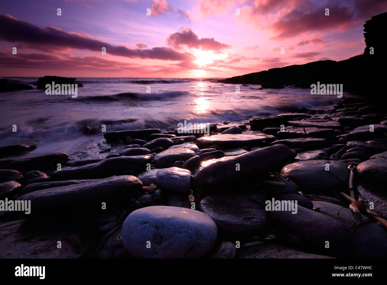 Orkney, Sandgeo bay - Stock Image