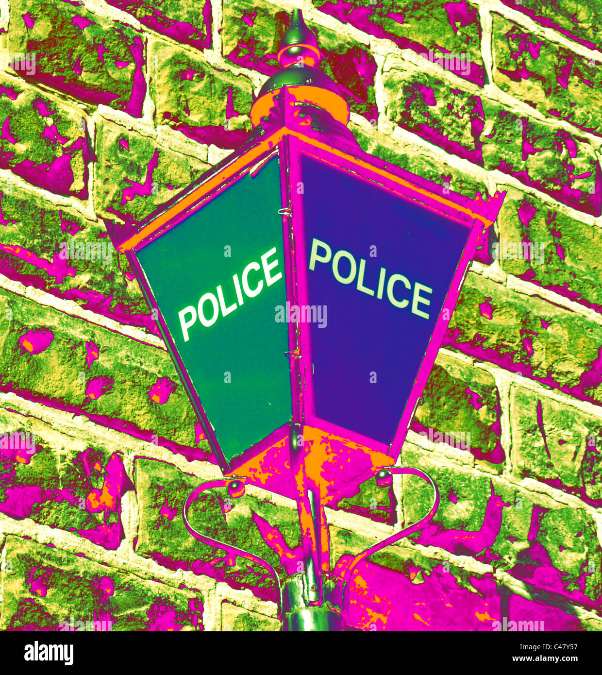 Psychedelic Police - Stock Image