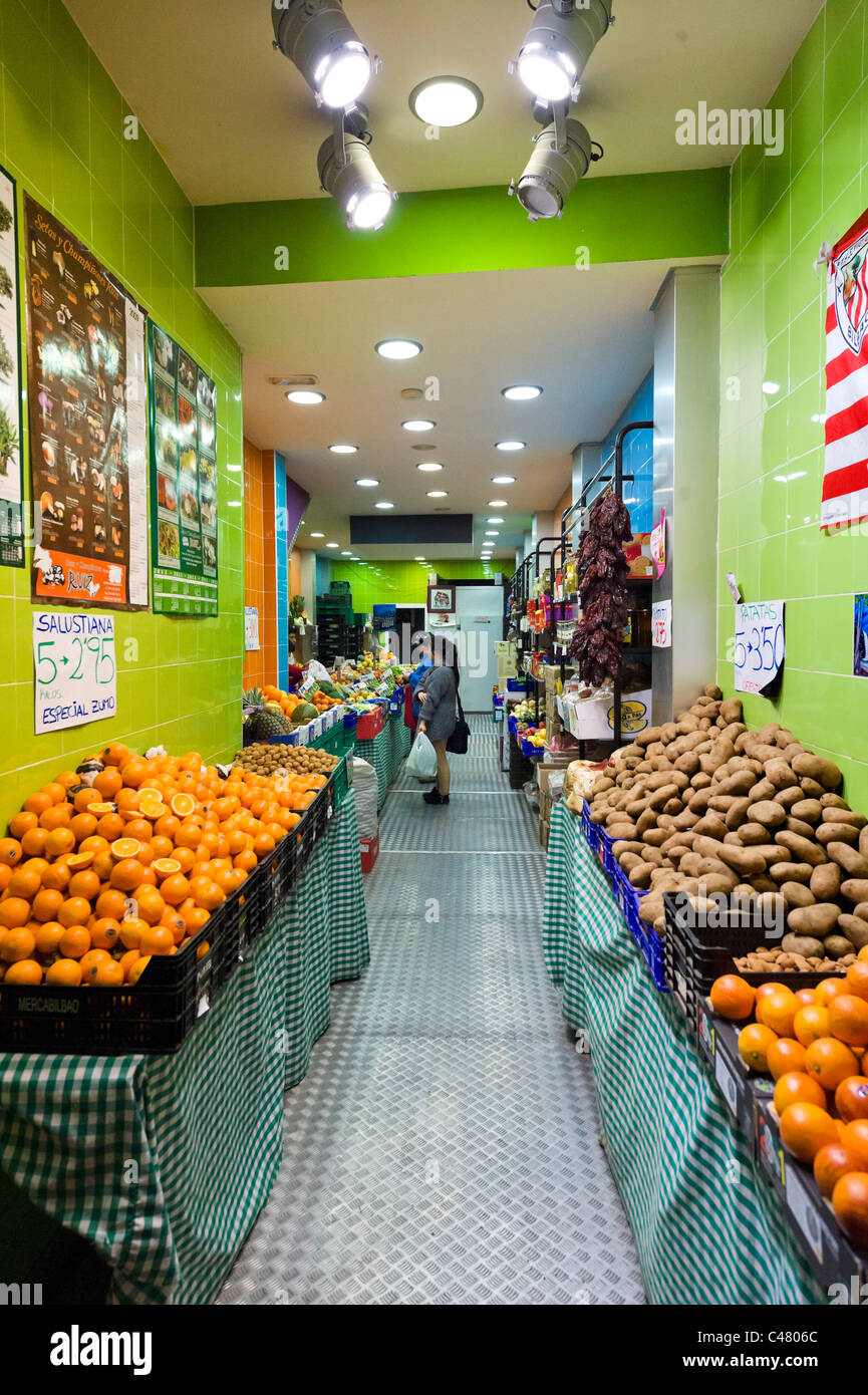 Local Supermarket At Night Historic Old Town Casco Viejo Bilbao Stock Photo Alamy