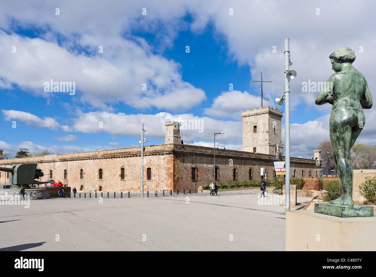 The Castell de Montjuic, Barcelona, Catalunya, Spain - Stock Image