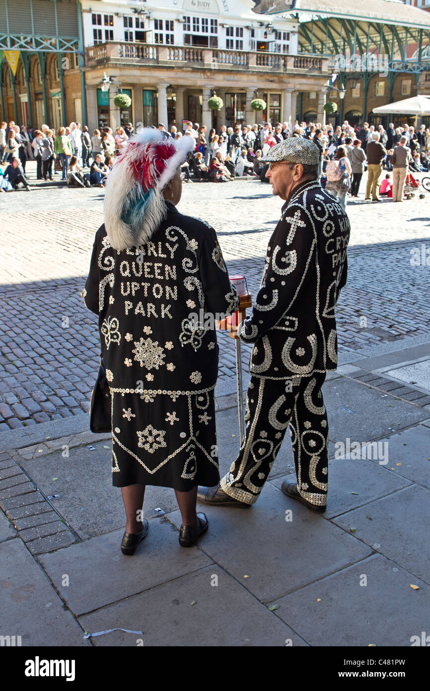 pearly king and queen - Stock Image