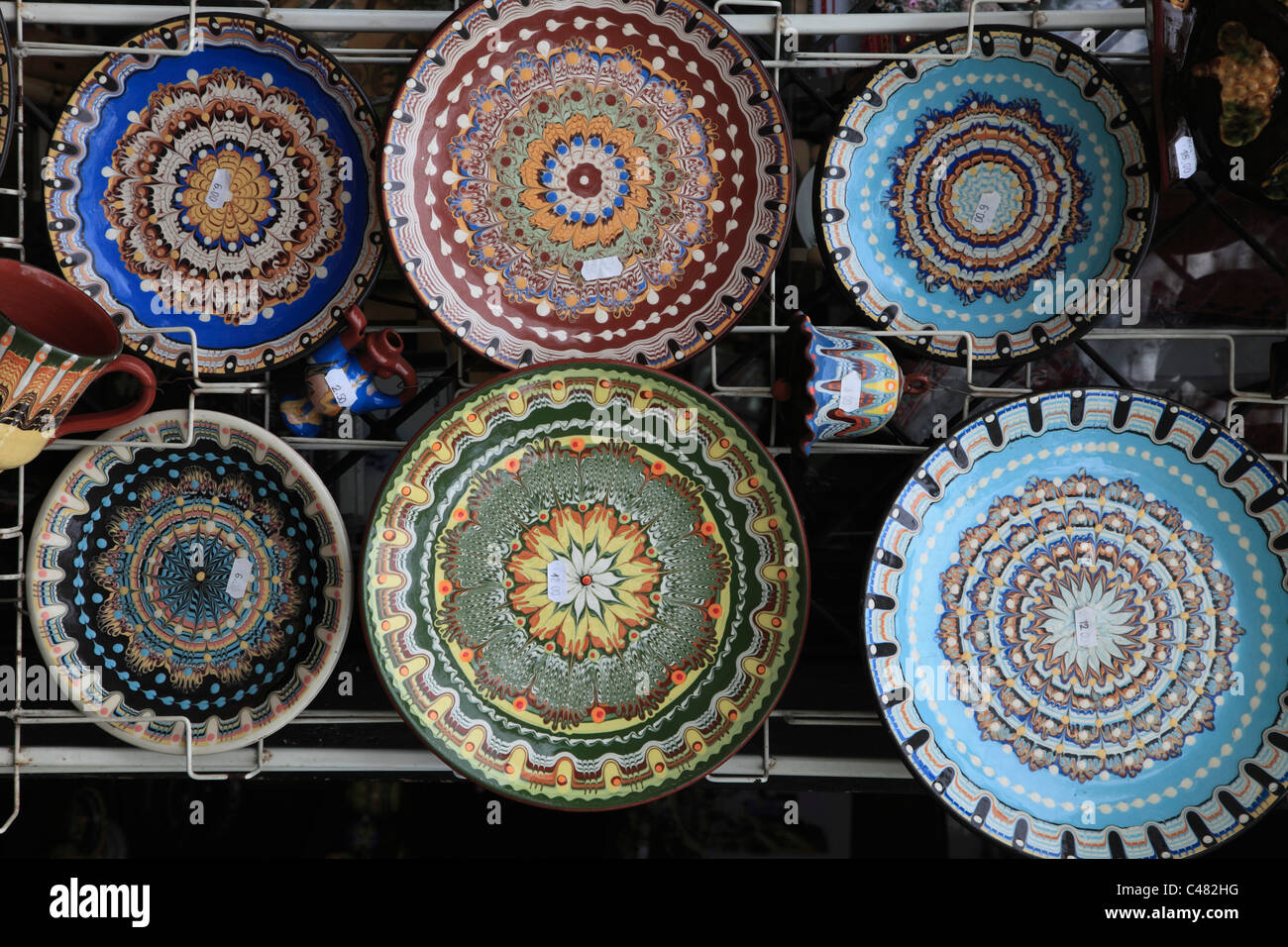 Bulgaria, Plovdiv, handicraft, ceramics, - Stock Image