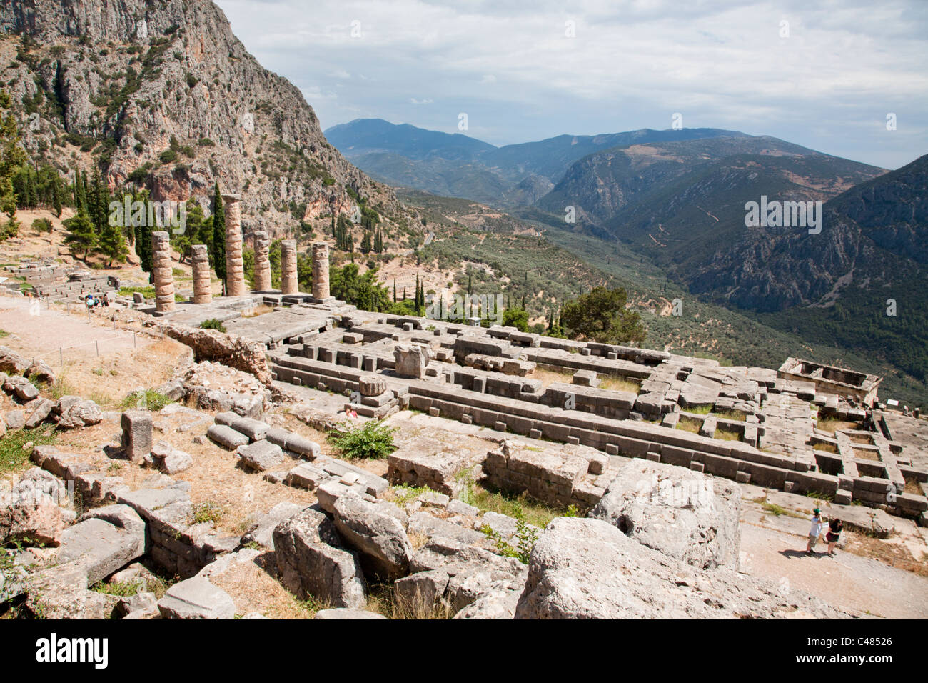 The Temple of Apollo, Delphi Greece Stock Photo