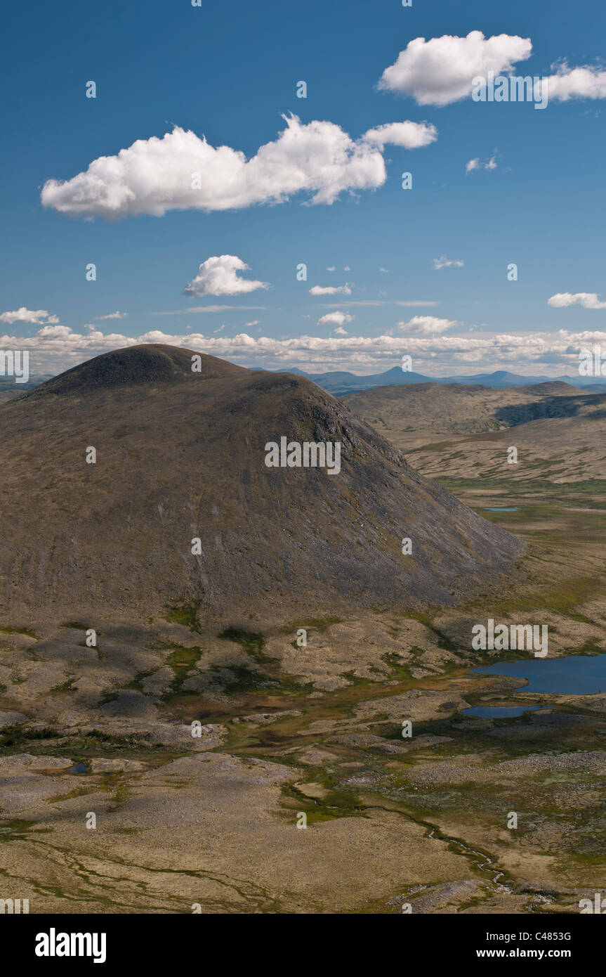 Gipfel im Alvdal Vestfjell, Hedmark, Norwegen, Peaks, Norway Stock Photo