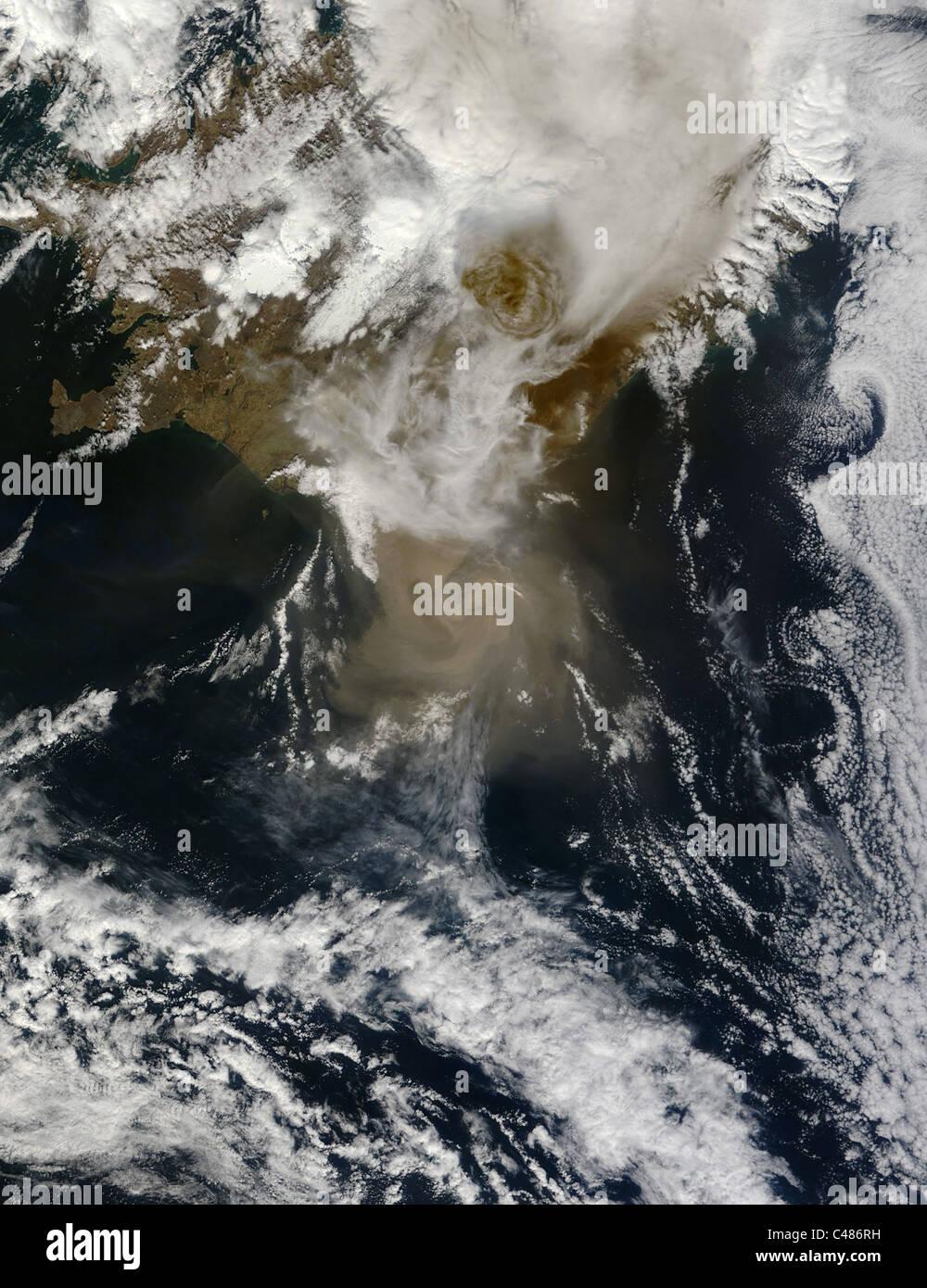 IcelandÕs Grimsvotn Volcano On May 21, 2011, IcelandÕs Grimsvotn Volcano erupted, sending an ash plume - Stock Image