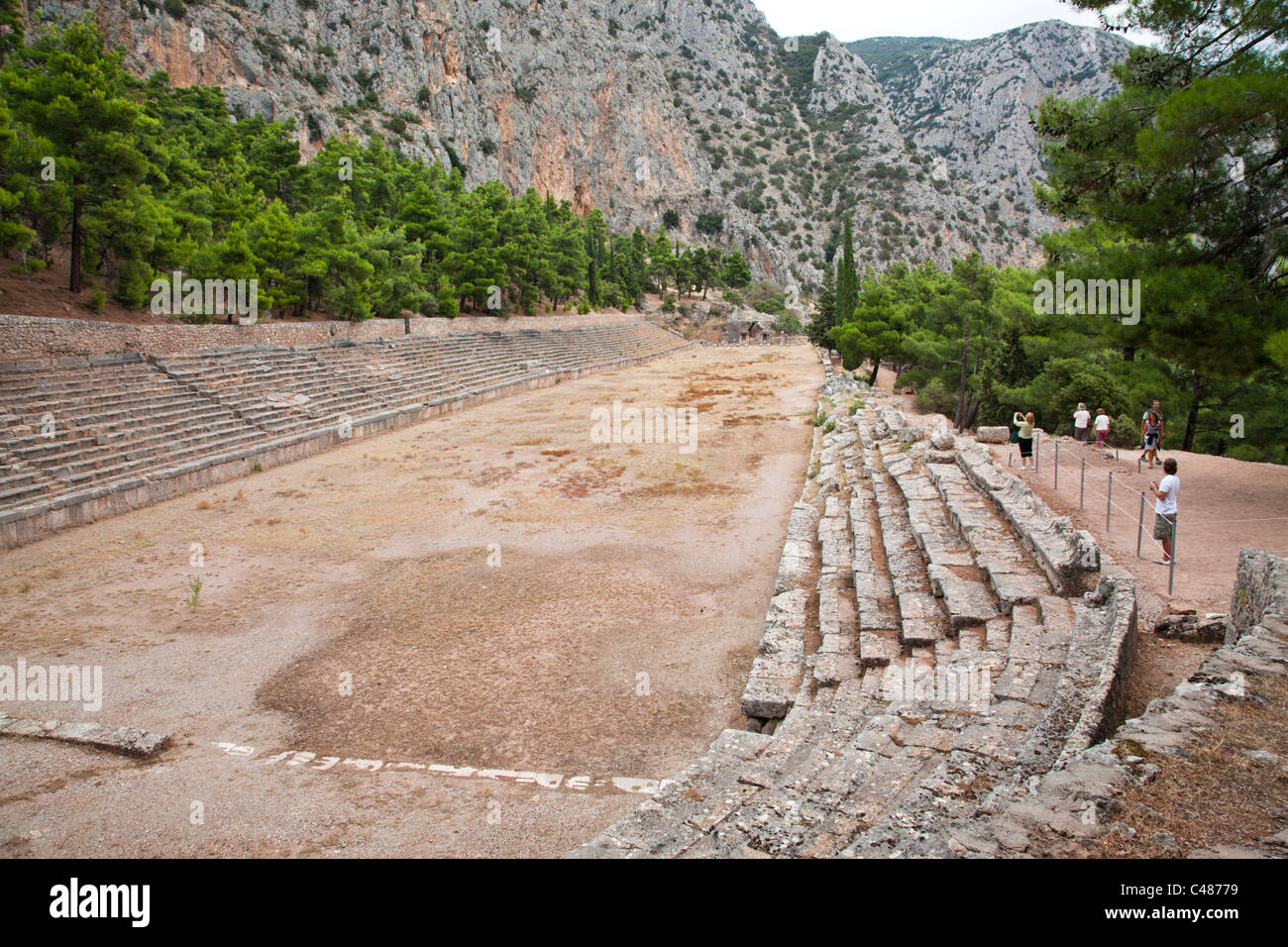 Stadium, Delphi Greece Stock Photo