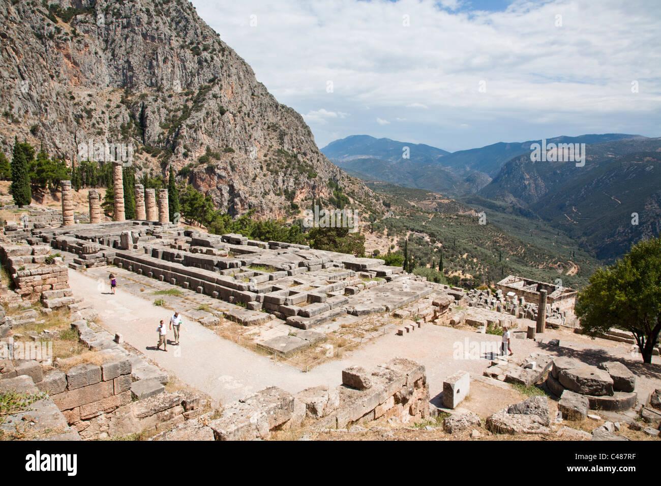 The Temple of Apollo, Delphi Greece Stock Photo