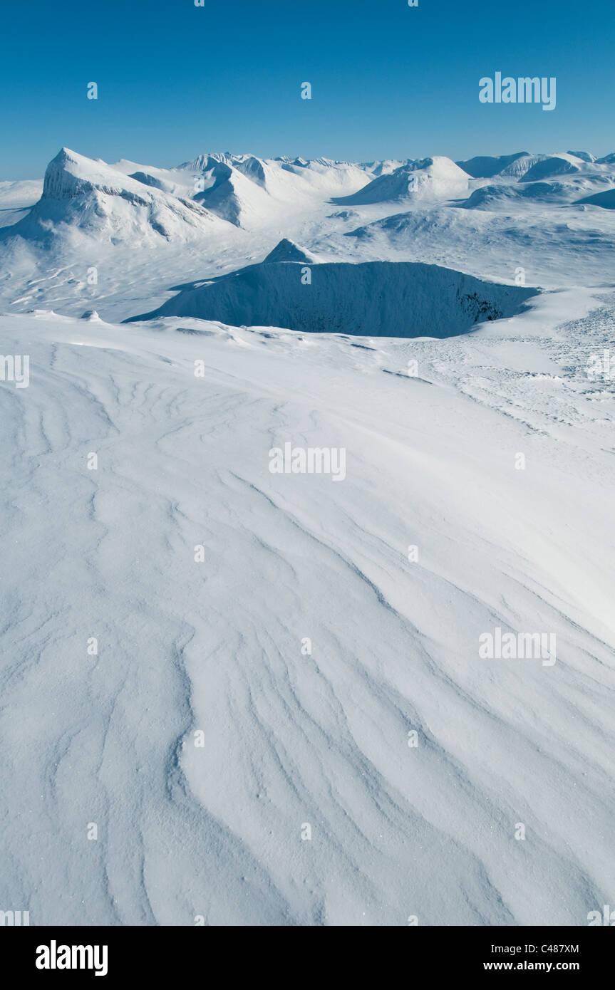 Blick ins Tal Ruohtesvagge, Sarek Nationalpark, Welterbe Laponia, Norrbotten, Lappland, Schweden Stock Photo