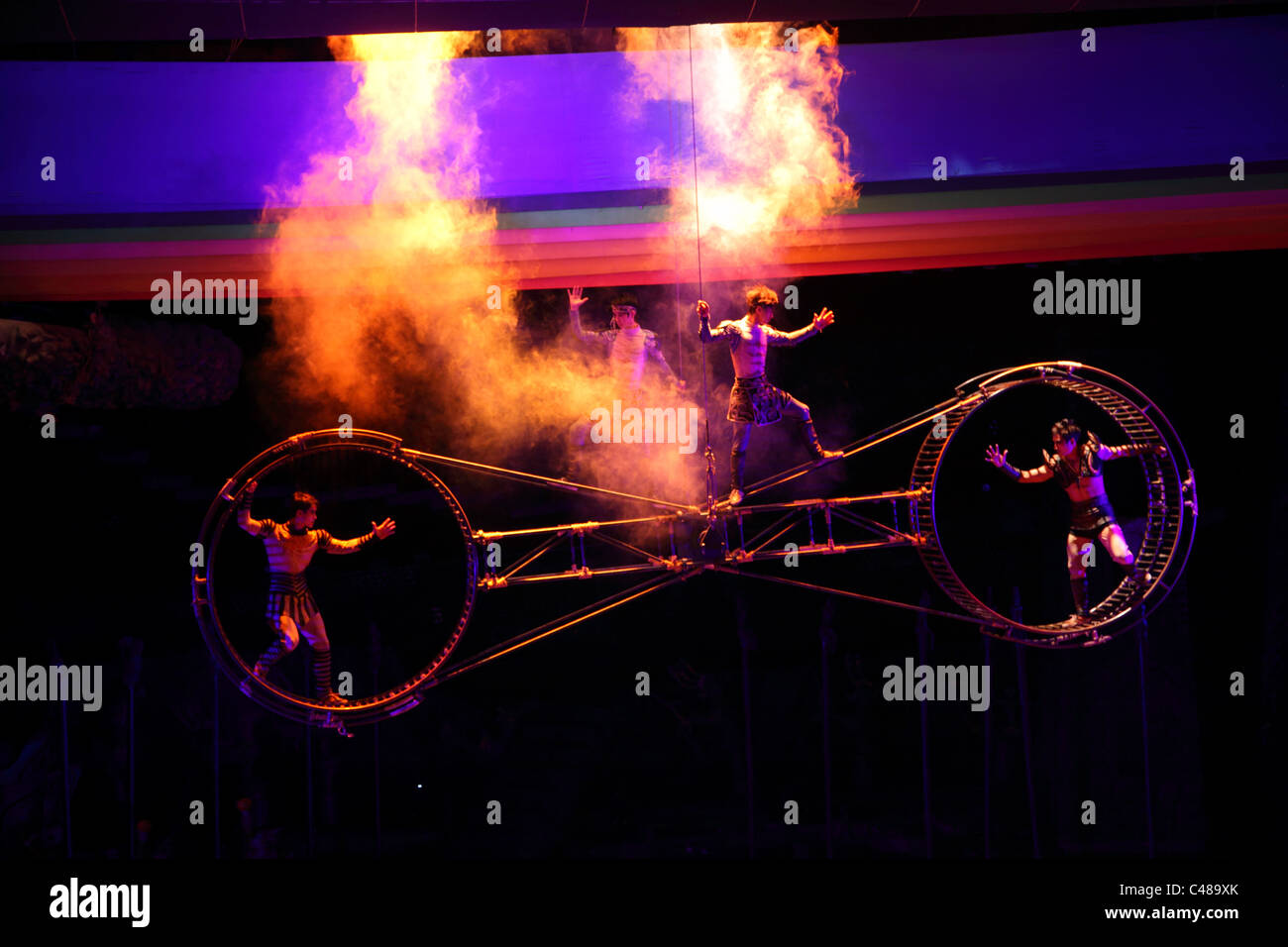 Chinese circus performers, Beijing, China - Stock Image