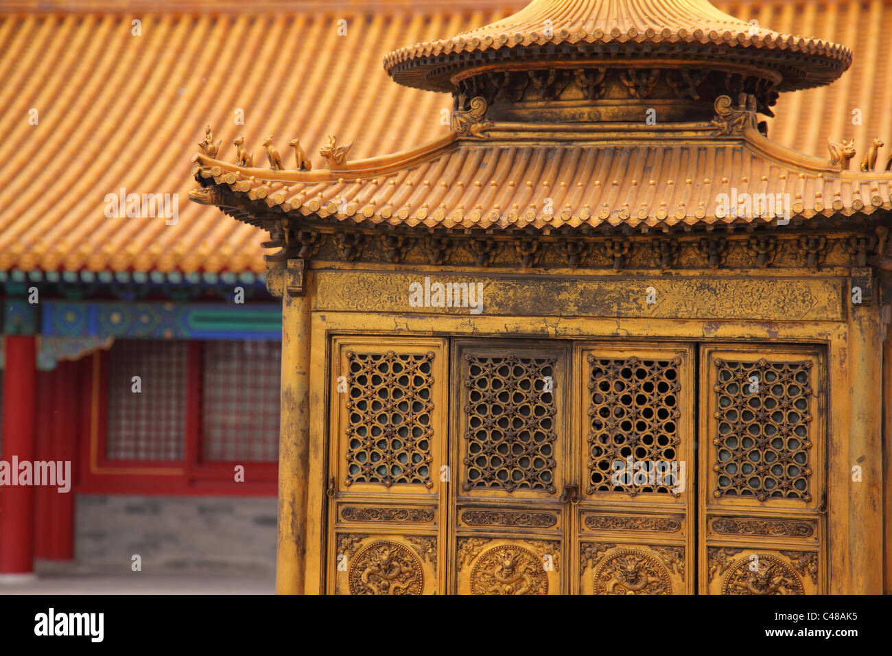 Architectural detail, Forbidden City, Beijing, China - Stock Image