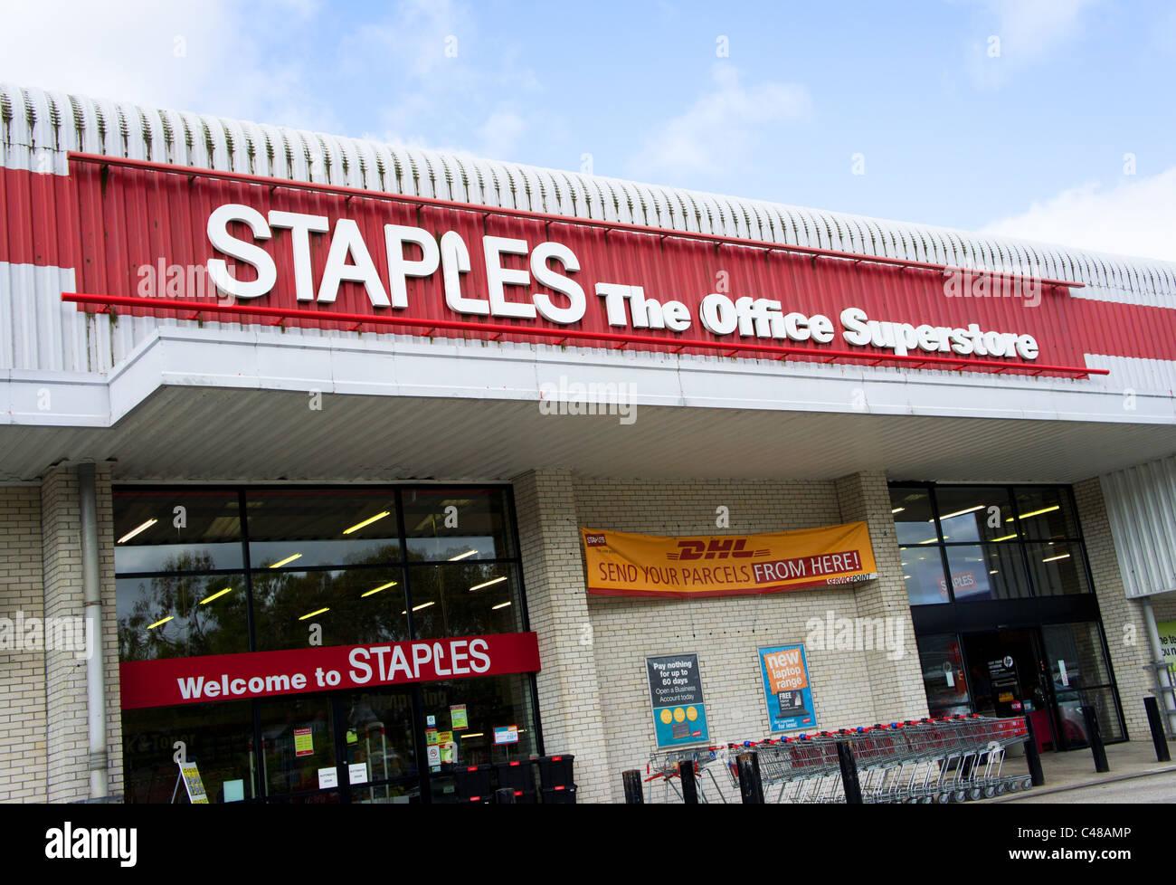 Staples store - Stock Image