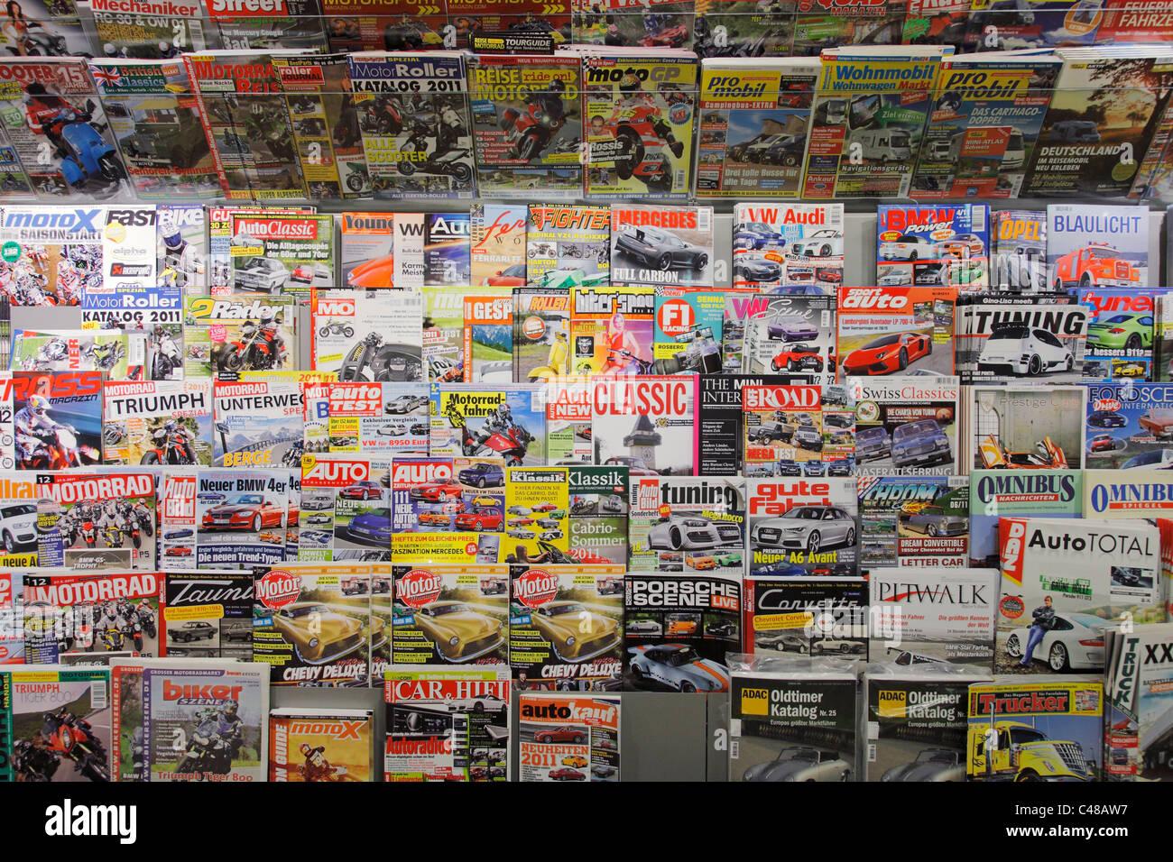 magazine shelf - Stock Image