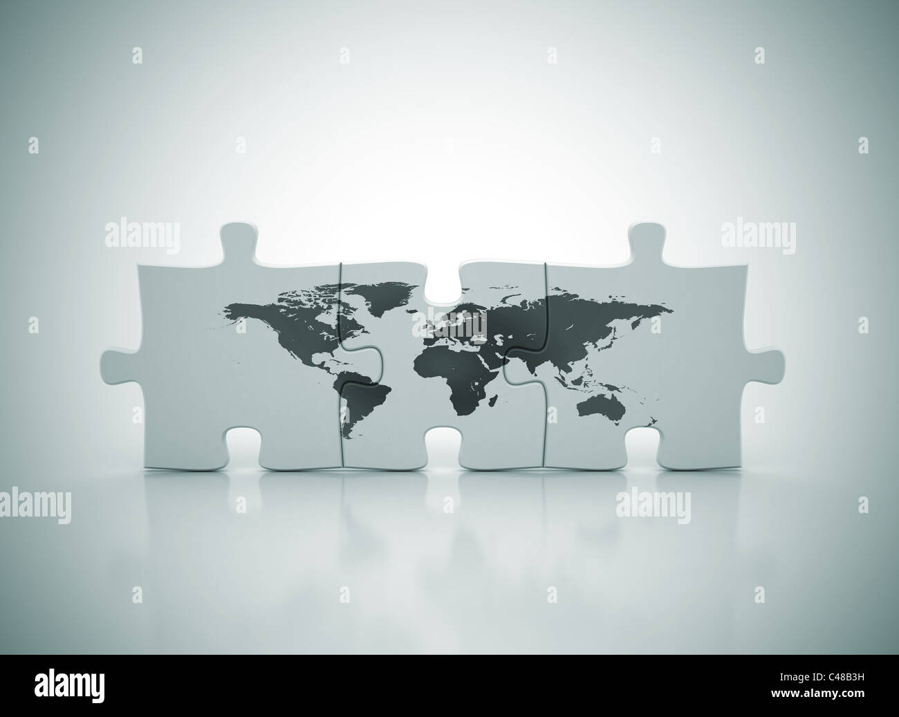 Jigsaw puzzle world map stock photos jigsaw puzzle world map stock world map on puzzle stock image gumiabroncs Image collections