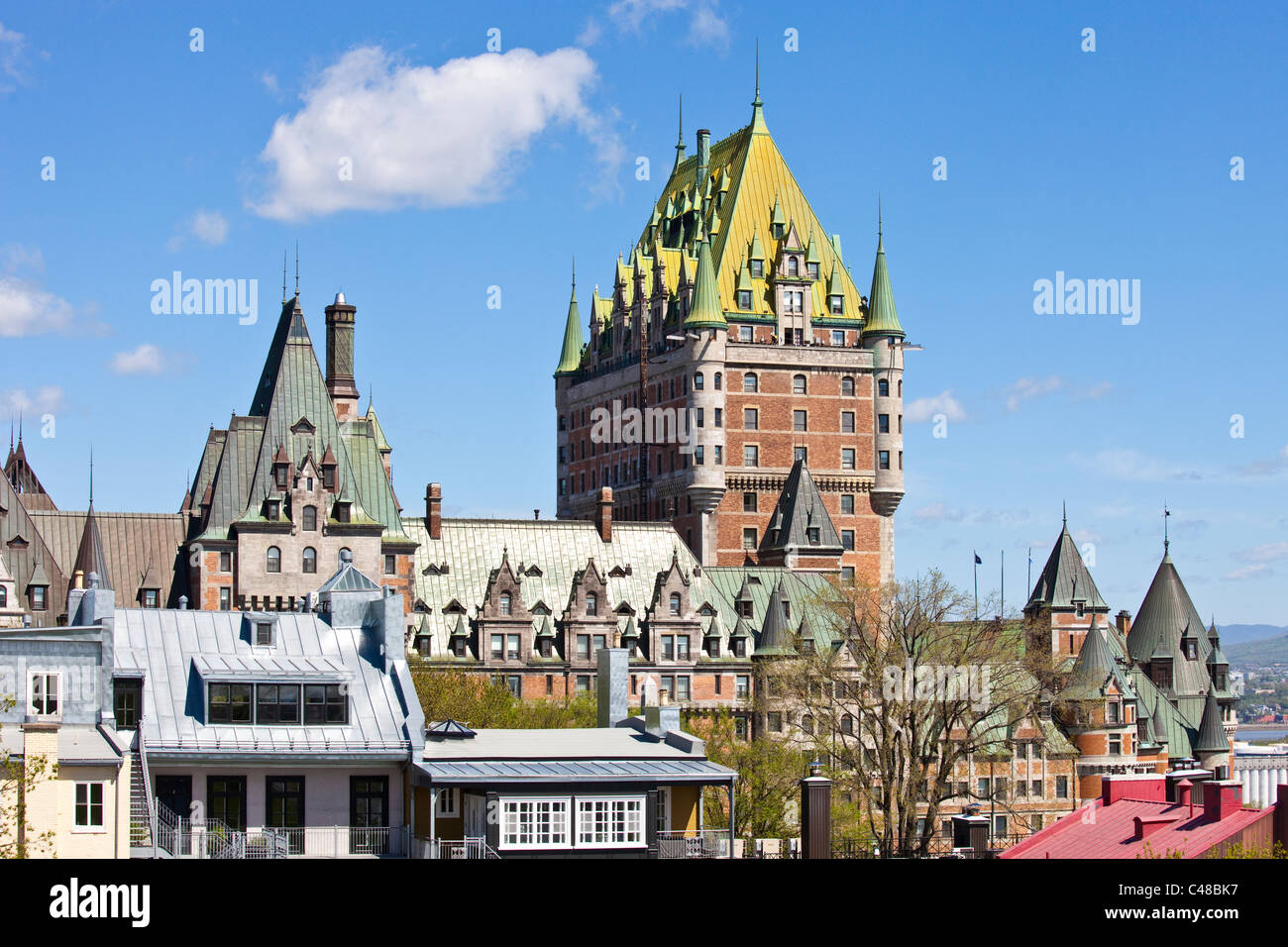 Chateau Frontenac, old town, Quebec City, Canada - Stock Image