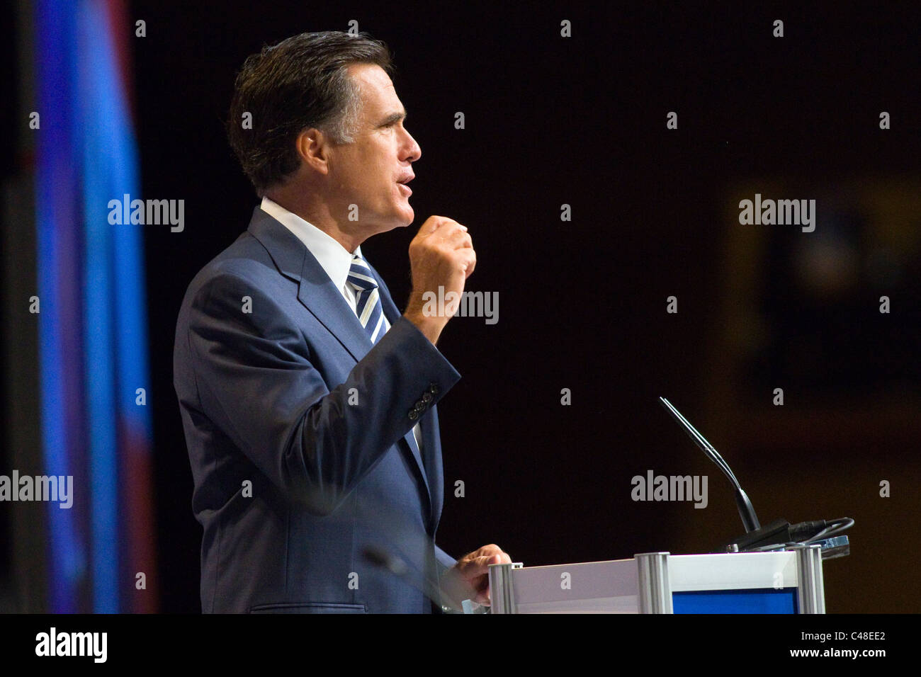 Republican Presidential candidate Mitt Romney at the  CPAC conference in Washington, DC - Stock Image
