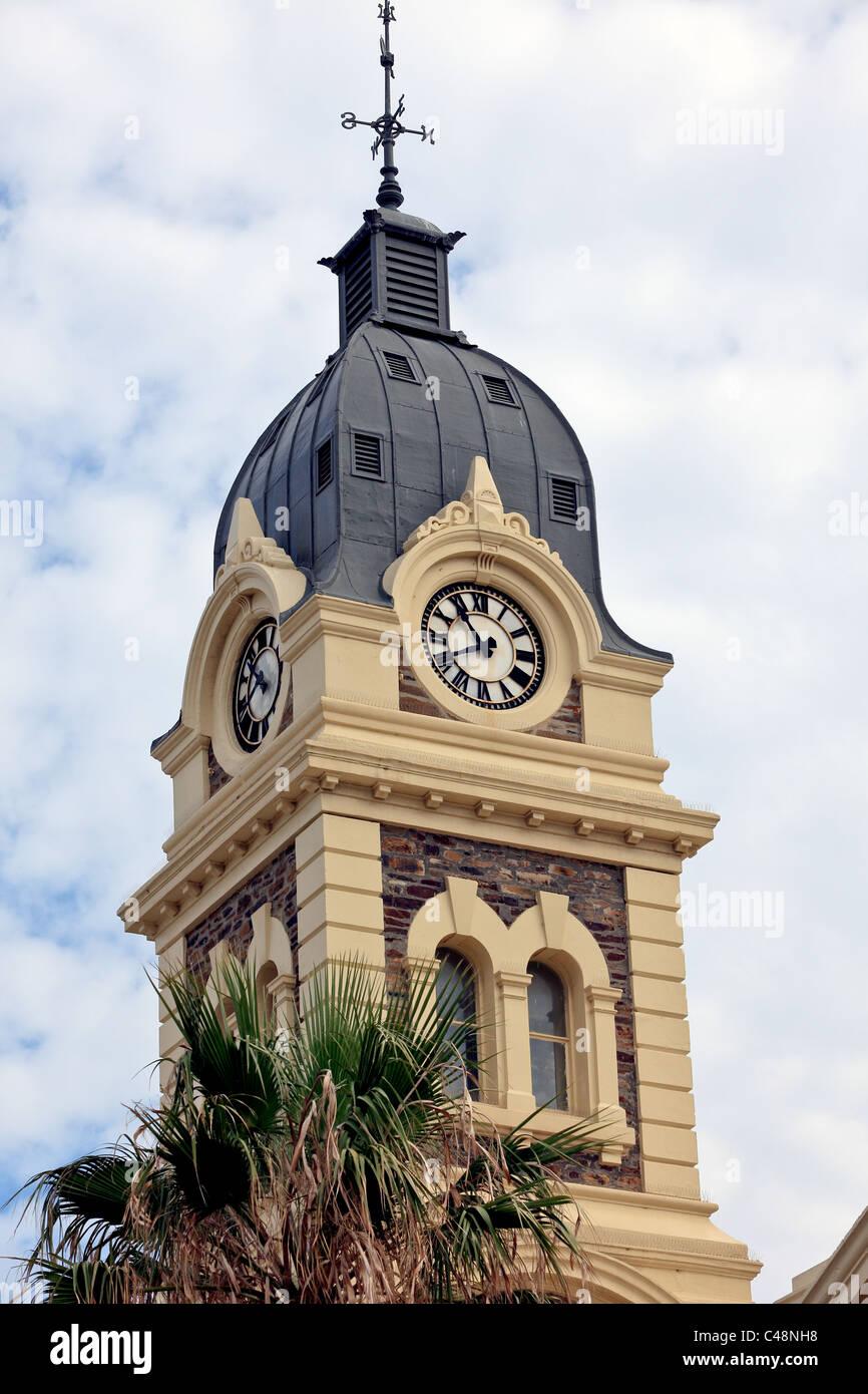 Glenelg Town Hall clock tower Moseley Square South Australia circa 1875 - Stock Image