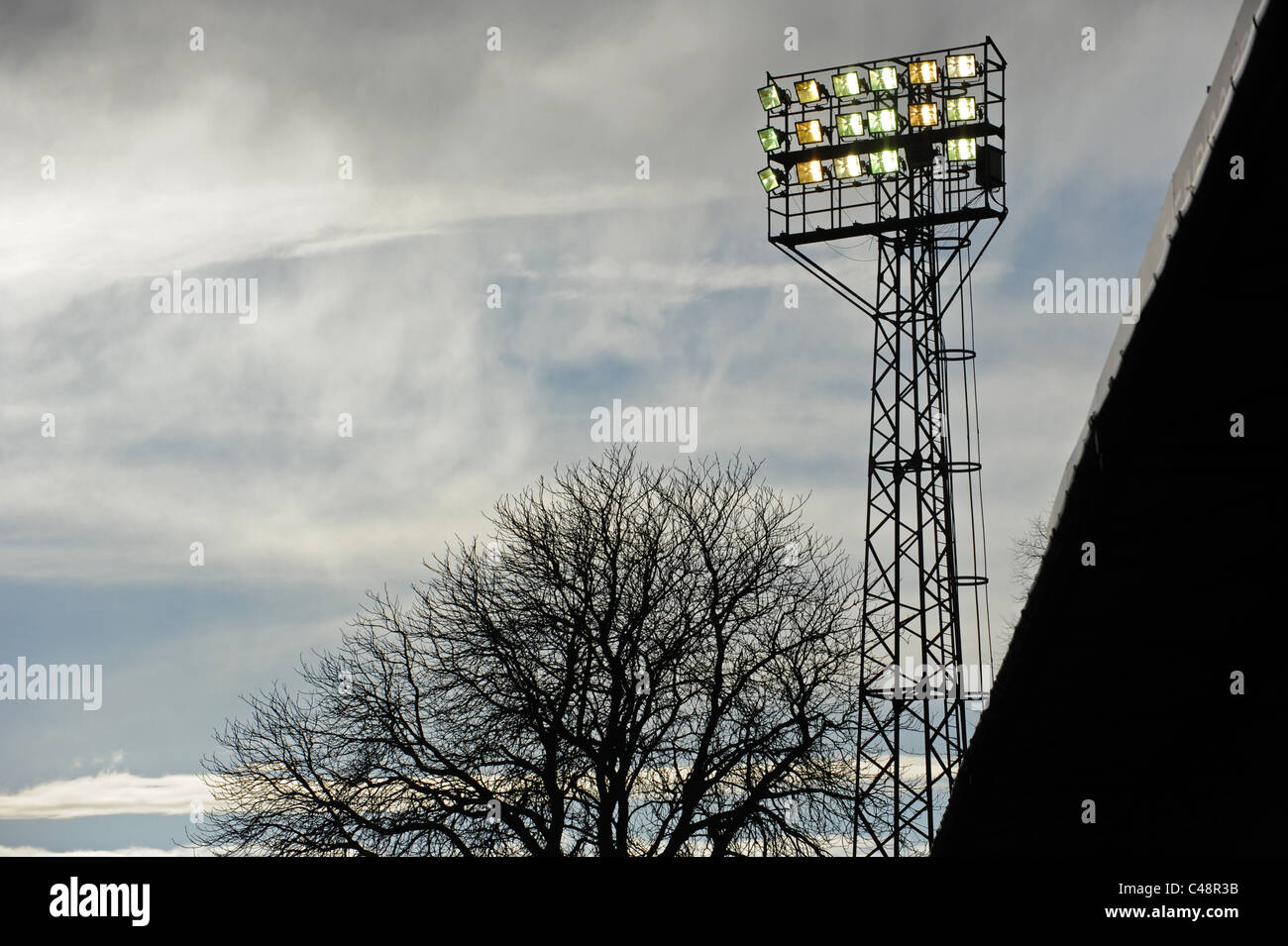 Floodlights at a Sports Ground - Stock Image
