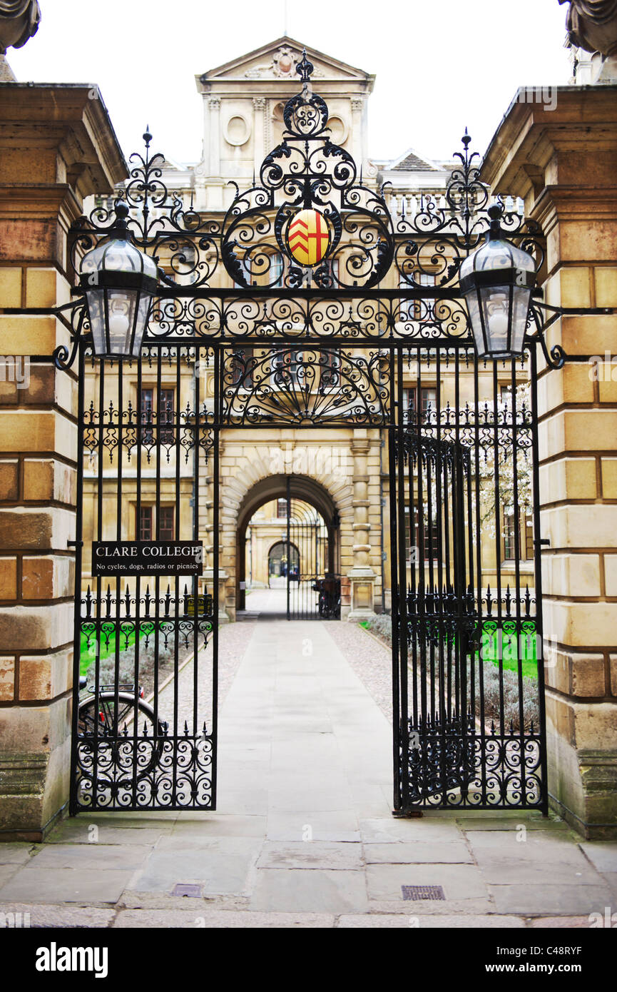 an Entrance to Cambridge university, East Anglia - Stock Image