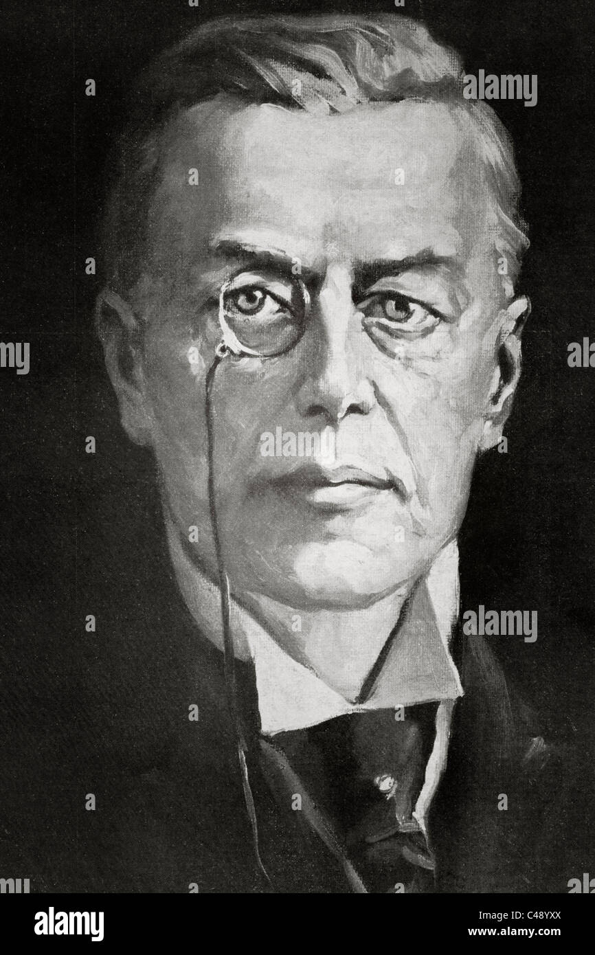 Joseph Chamberlain, 1836 – 1914. British businessman, politician, and statesman. - Stock Image