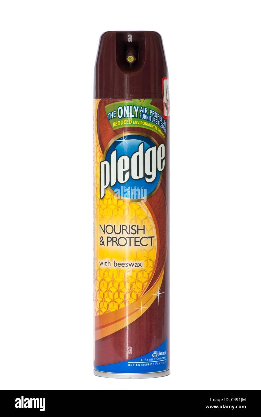 Spray Can Of Pledge Furniture Polish - Stock Image
