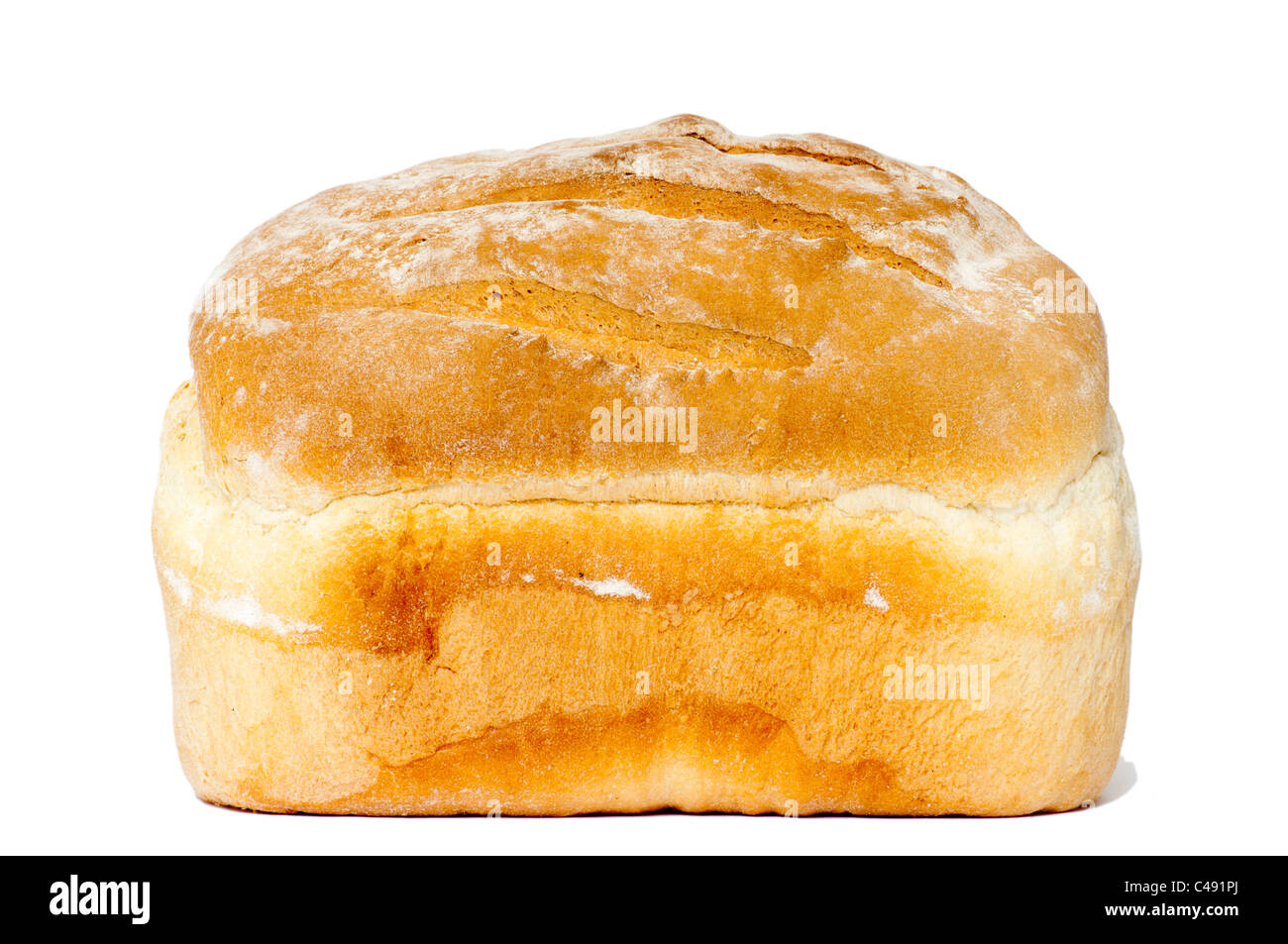 Fresh Uncut Loaf Of Bread - Stock Image