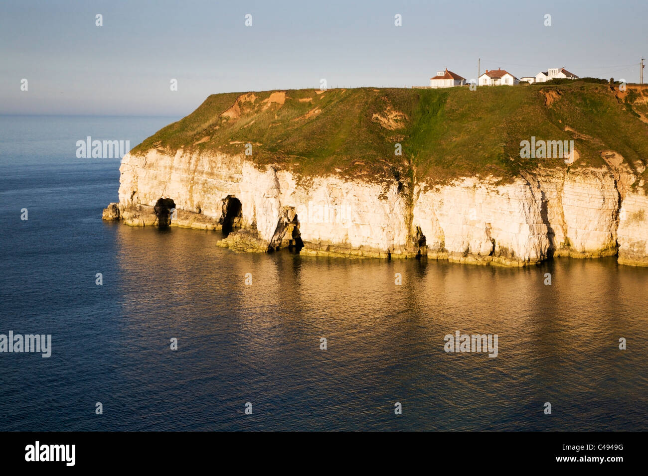 Thornwick Bay Flamborough Head East Riding of Yorkshire England Stock Photo