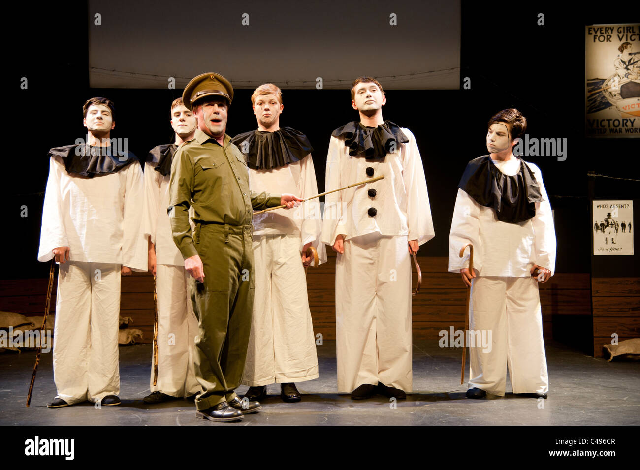 An amateur production of Oh What a Lovely War - Aberystwyth Arts Centre youth and community theatre , UK Stock Photo