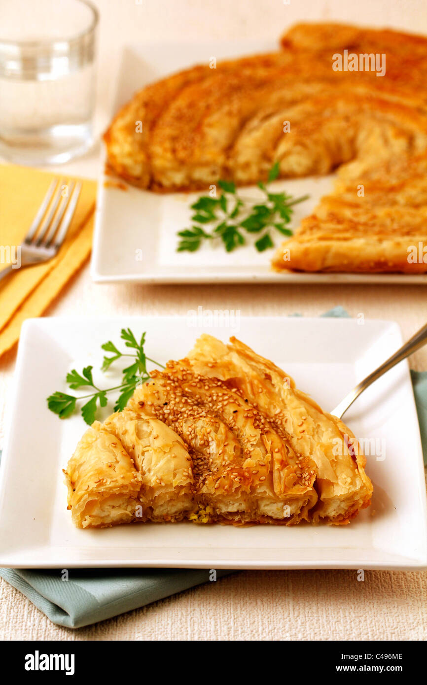 Romanian turnover with cheese. Recipe available. - Stock Image
