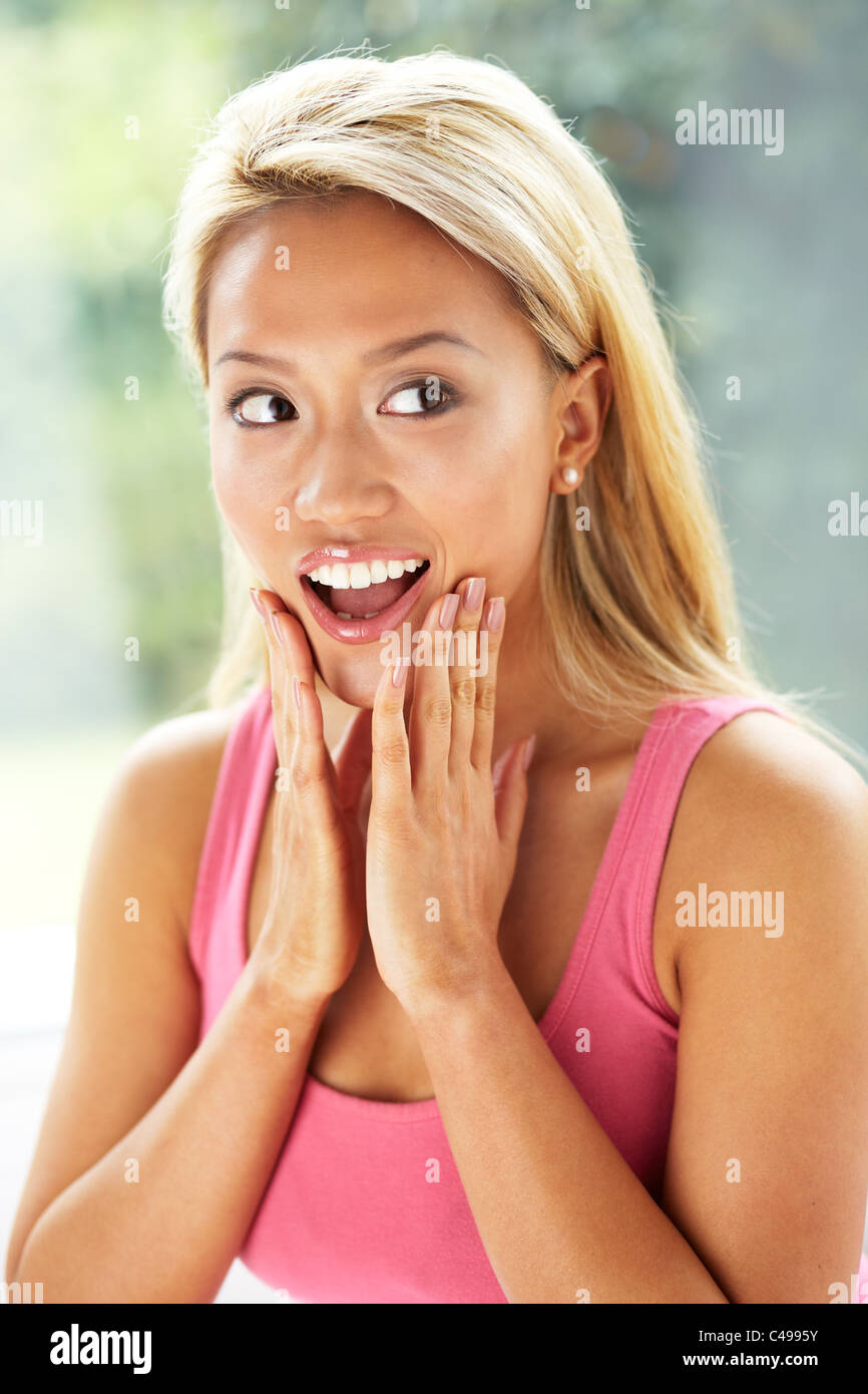 Expressional girl - Stock Image