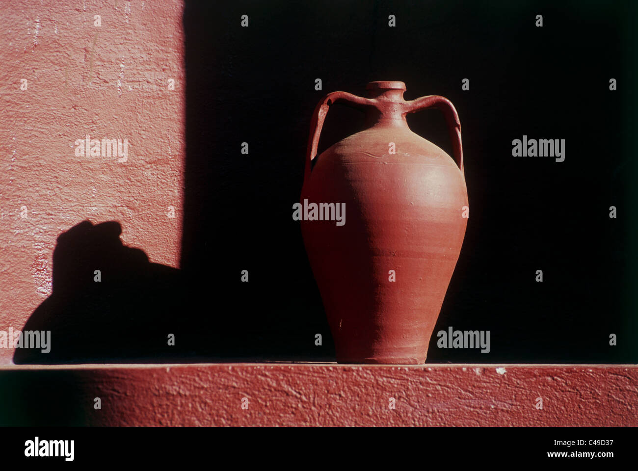 Photograph of an ancient vase in Greece - Stock Image