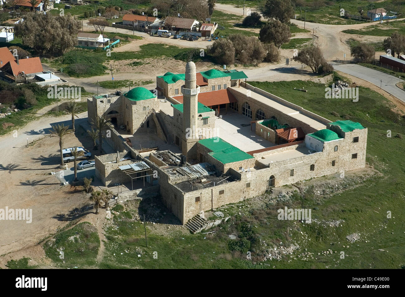 Aerial photograph of the mosque of Sidna Ali in the coast ofherzeliya - Stock Image